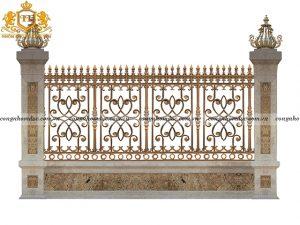Hàng rào nhôm đúc HR-03 vẻ đẹp tinh tế, ấn tượng